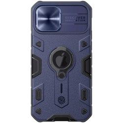 iPhone 12 / 12 Pro - NILLKIN CamShield Armor Ring Skal - Blå Blue Blå
