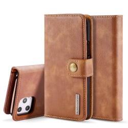 iPhone 11 Pro Max - DG.MING Plånboksfodral/Magnet Skal - Brun Brown Brun
