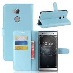Sony Xperia XA2 Ultra - Litchi Plånboksfodral - Ljus Blå LightBlue Ljus Blå
