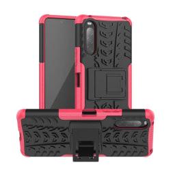 Sony Xperia 10 II - Ultimata Stöttåliga Skalet med Stöd - Rosa Pink Rosa