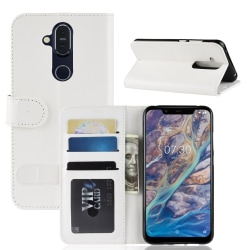 Nokia 8.1 - Plånboksfodral - Vit White Vit