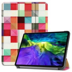 iPad Air (2020) / Pro 11 - Tri-Fold Fodral - Färgade Fyrkanter