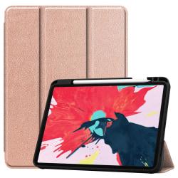 iPad Air 2020, Pro 11 2018/2020 - Tri-Fold Fodral med Pennhållar Roséguld