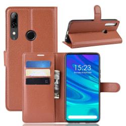 Huawei P Smart Z - Litchi Plånboksfodral - Brun Brown Brun