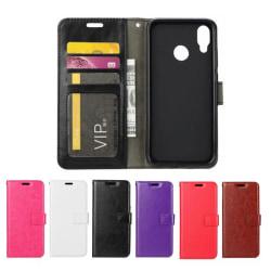 Huawei P20 Lite - Plånboksfodral - Välj Färg! Black Svart