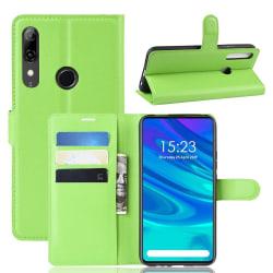 Huawei P Smart Z - Litchi Plånboksfodral - Grön Green Grön