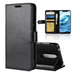 Nokia 5.1 Plus - Plånboksfodral - Svart Black Svart