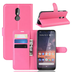 Nokia 3.2 - Litchi Plånboksfodral - Rosa Pink Rosa