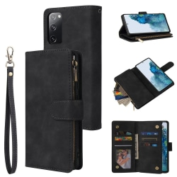 Samsung Galaxy S20 FE - Multifunktionellt Plånboksfodral - Svart Black Svart