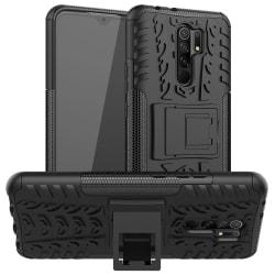 Xiaomi Redmi 9 - Ultimata Stöttåliga Skalet med Stöd - Svart Black Svart