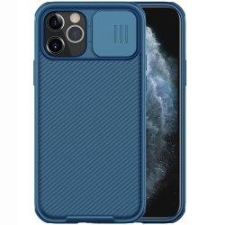 iPhone 12 / 12 Pro - NILLKIN CamShield Pro Skal - Blå Blue Blå