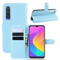 Xiaomi Mi A3 - Litchi Plånboksfodral - Ljus Blå LightBlue Ljus Blå