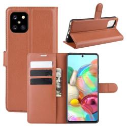 Samsung Galaxy Note 10 Lite - Litchi Plånboksfodral - Brun Brown Brun