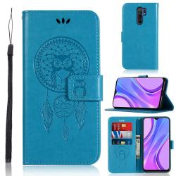 Xiaomi Redmi 9 - Dream Catcher Owl Fodral - Blå Blue Blå