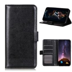 Samsung Galaxy A42 - Crazy Horse Fodral - Svart Black Svart