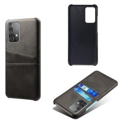 Samsung Galaxy A52 - KSQ Skal Med Kortfack - Svart Black Svart