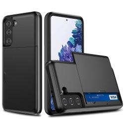 Samsung Galaxy S21 Plus - Skal Med Kortfack - Svart Black Svart