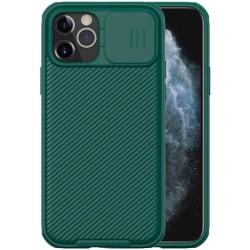 iPhone 12 / 12 Pro - NILLKIN CamShield Pro Skal - Grön Green Grön