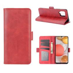 Samsung Galaxy A42 - Fodral Med Magnetisk Stängning - Röd Red Röd