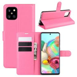 Samsung Galaxy Note 10 Lite - Litchi Plånboksfodral - Rosa Pink Rosa