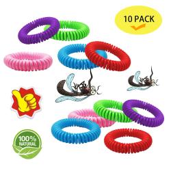 Antimyggband 10 pack multifärg