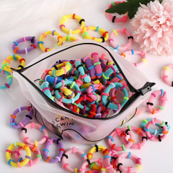 Hårband 100 pack flerfärgad multifärg