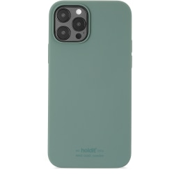 Holdit Mobilskal iPhone 12 / 12 Pro Silikon Moss Green