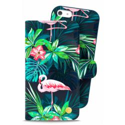 Holdit iPhone 5/5S/SE Plånboksväska London Flamingo
