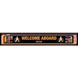 Star Trek (Welcome aboard) - Exklusivt tryck på trä.13 x 80cm multifärg
