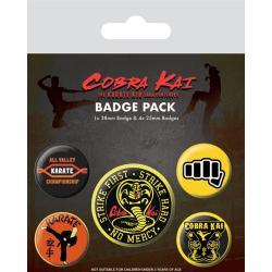 Knappsats - Badge Pack - Cobra Kai (No Mercy) multifärg