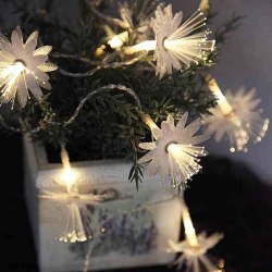 Batteridriven ljusslinga Fiberoptik blomma med timer