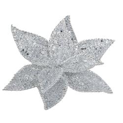 Julgransdekoration Stjärna klipps 20cm Silver
