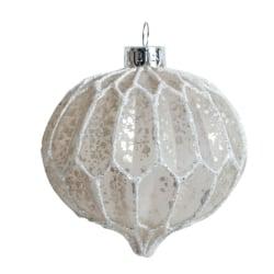 Julgranskula Globe 8cm i glas Silver