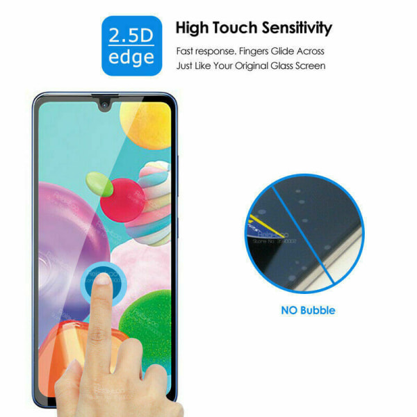 2-Pack Samsung Galaxy A41 - 9H Härdat glas - Top kvalitet