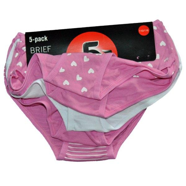 5 par trosor - Flera färger Pink 110/116