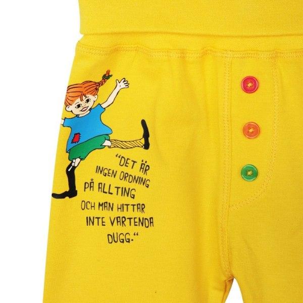 Pippi Långstrump Citat byxa gul, Martinex Yellow 80
