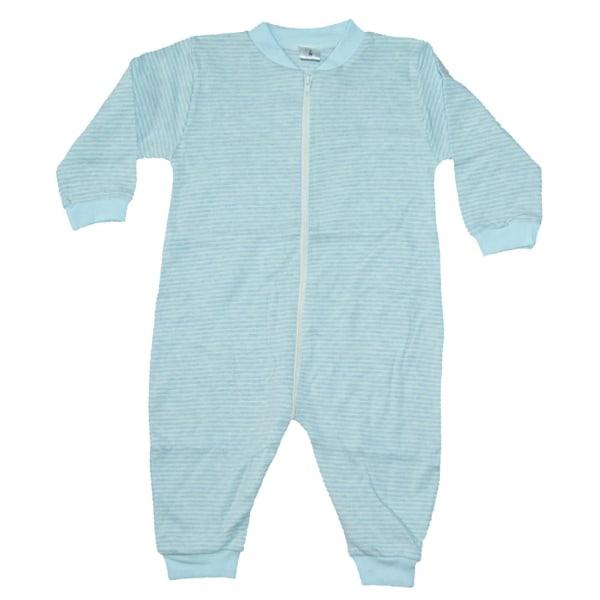 Pyjamasoverall Blå/Vit randig LightBlue 80