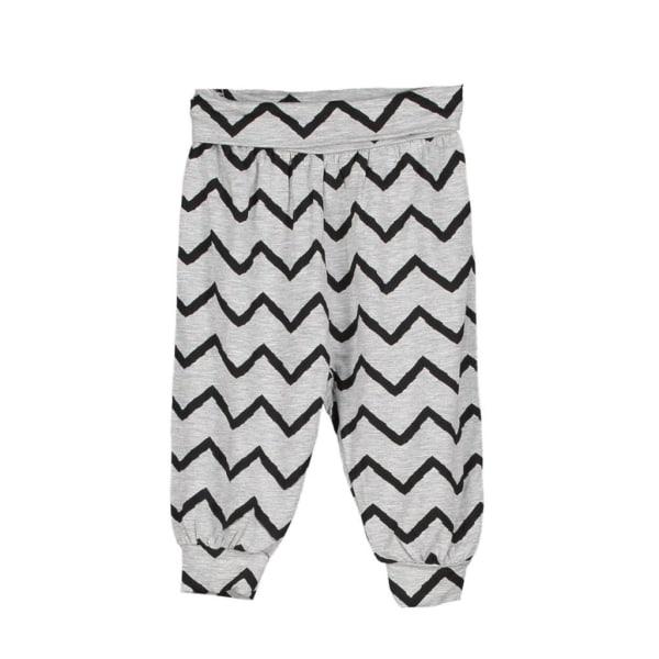 Babybyxa flick gråmelange/svart, 74 cl grå