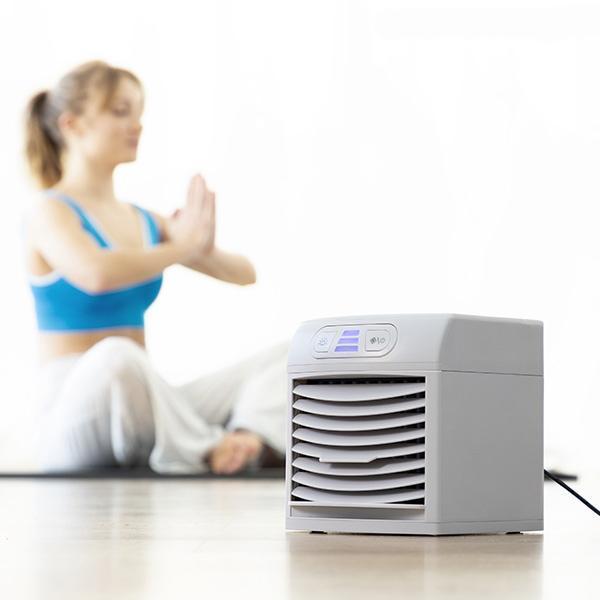Innovagoods transportabel luftkøler og blæser med LED FreezyQ +