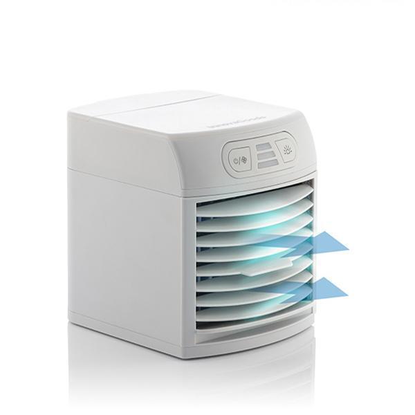 Innovagoods bärbar luftkylare och fläkt med LED FreezyQ+