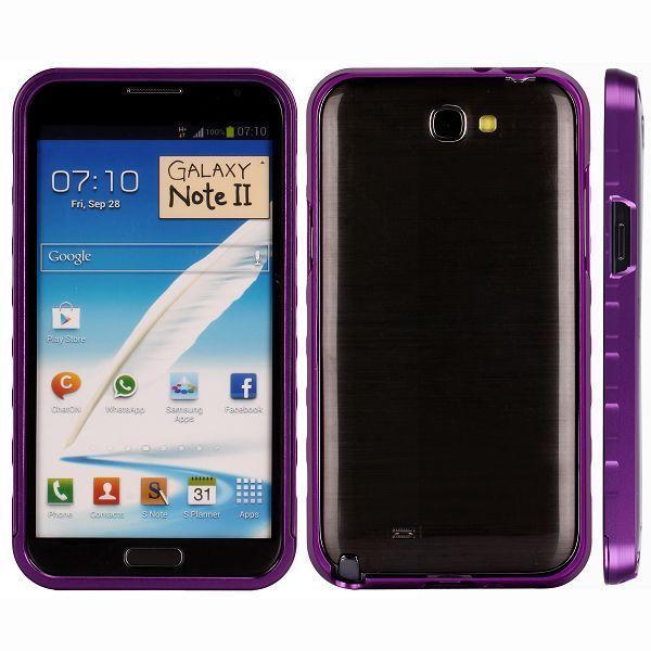 AluLite (Lila) Samsung Galaxy Note 2 Aluminium-Bumper