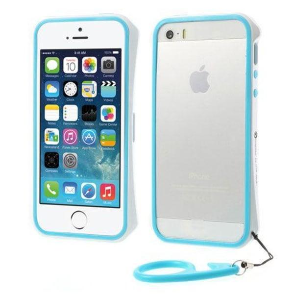 AluPro (Blå/Vit) iPhone 5/5S Aluminium Bumper