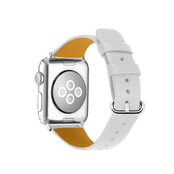 Apple Watch Series 3/2/1 38mm litchi texture watch band - Wh