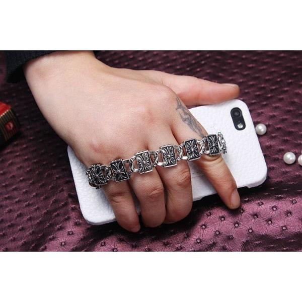 Bling Chain (Vit) iPhone 5/5S Läderskal
