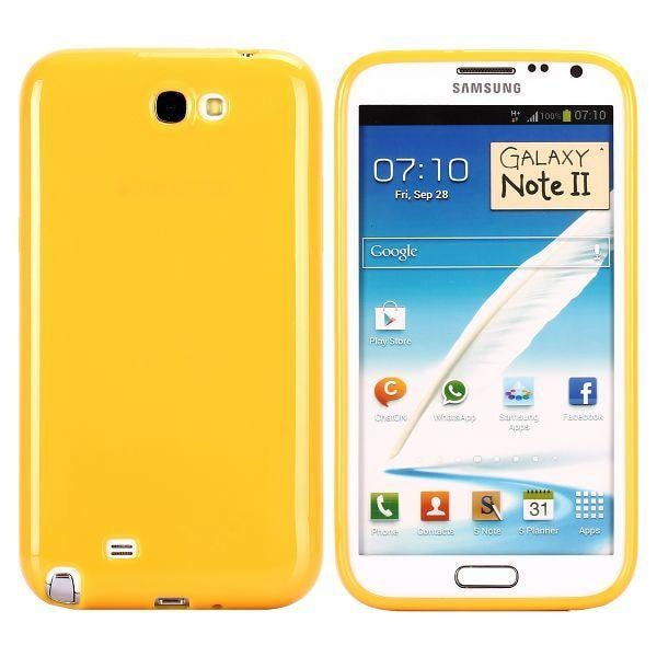 Candy Colors (Gul) Samsung Galaxy Note 2 Skal