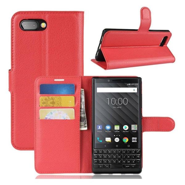 Classic BlackBerry KEY2 flip case - Red