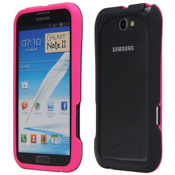Click-On (Het Rosa) Samsung Galaxy Note 2 Hård-Bumper