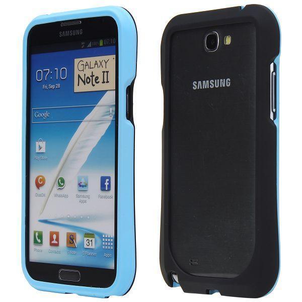 Click-On (Ljusblå) Samsung Galaxy Note 2 Hård-Bumper