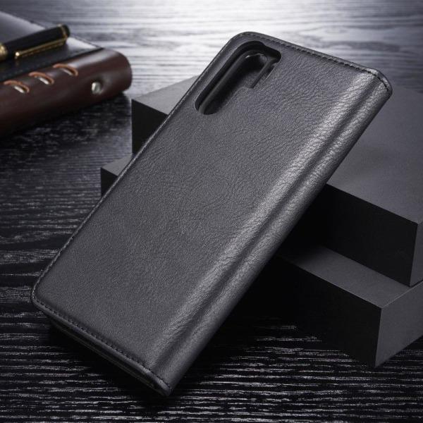 DG.MING Huawei P30 Pro 2-i-1 löstagbart läderfodral - svart