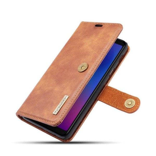 DG.MING Samsung Galaxy A6 Plus (2018) split läderfodral - Br